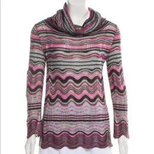 MISSONI~Scalloped Turtleneck Light Knit Sweater~38